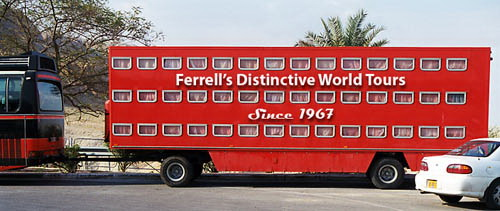 Rolling bus at Qumran. Photo by Ferrell Jenkins.
