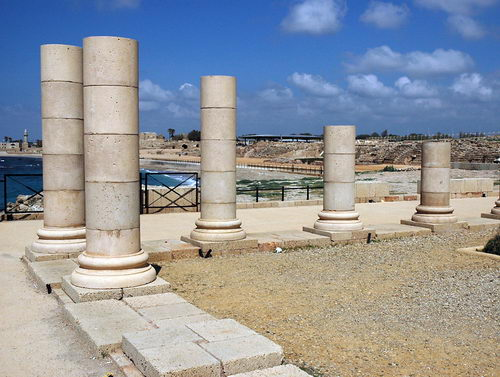 Caesarea Maritima. Area of Herod's Palace. Photo by Ferrell Jenkins.