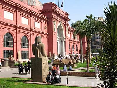 The Egyptian Museum sadly does not allow photography inside. Photo by Ferrell Jenkins.