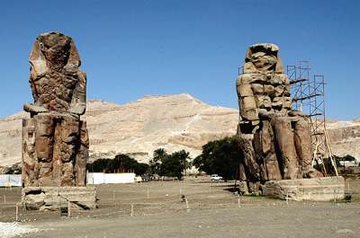Colossi of Memnon  in the Valley of the Kings, Egypt. Photo by Ferrell Jenkins.